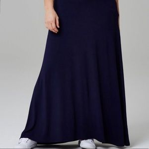 Capsule by Simply Be - Jersey Maxi Skirt